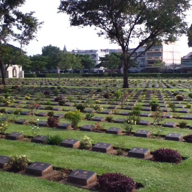 Humbling war cemetery for river Kwai remembrance , khanchaburi.