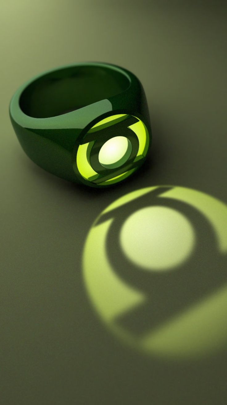 how to make a glowing green lantern ring