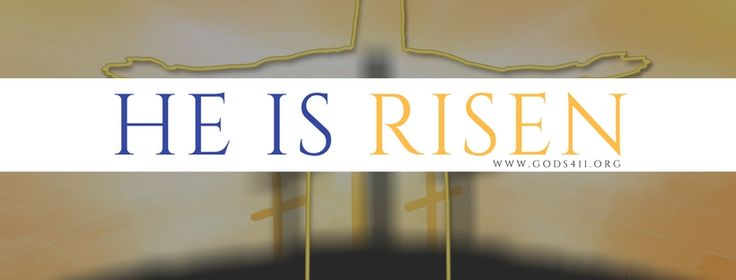 He is Risen   Christian Facebook Cover