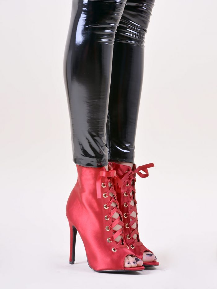 31ebadf33df A5045 Μποτάκια Peep Toe με Φερμουάρ - Decoro - Γυναικεία ρούχα, ανδρικά  ρούχα, παπούτσια