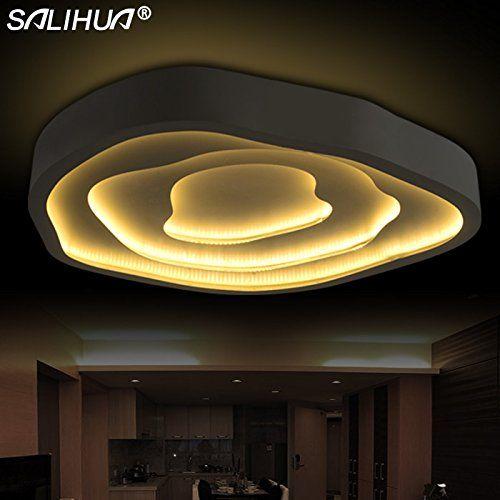 Фары CC светодиодные потолочные светильники свет современной гостиной личности минималистский свет Основное освещение спальни теплая романтичная исследование освещения, 660мм железо - - Amazon.com