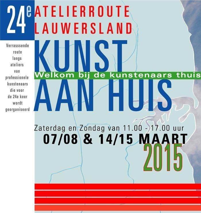 Kunst aan Huis, welkom bij de kunstenaars thuis, 7/8 en 14/15 maart 2015.