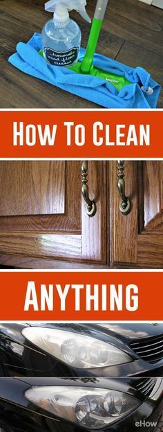 From erasing carpet stains to restoring baking pans, this assortment of DIY tricks will get you to clean up easy. And when you're done, the satisfaction of a spotless home just may make you change your mind about chores after all. With these cleaning hacks, say goodbye to wasting money on tons of harmful cleaning products and hello to a truly clean home! http://www.ehow.com/how_2049722_clean-anything.html?utm_source=pinterest.com&utm_medium=referral&utm_content=curated&utm_campaign=fanpage