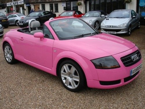 AUDI TT Convertible Pink - Girly Cars for Female Drivers! Love Pink Cars ♥ It's the dream car for every girl ALL THINGS PINK!