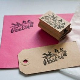Miss Honeybird stempel post