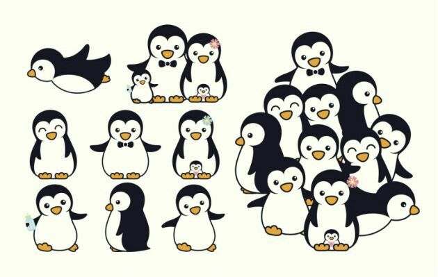 Family penguins