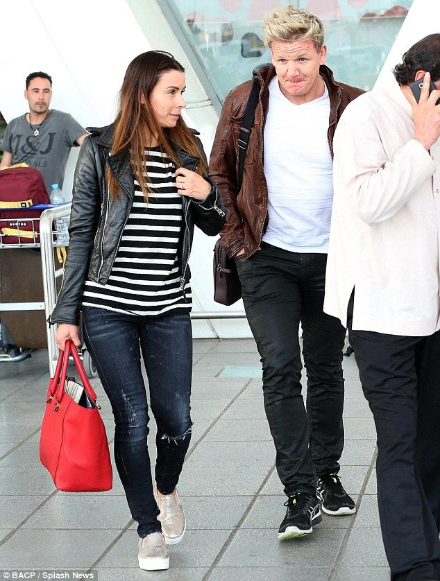 Gordon and Tana Ramsay jet into to Morocco for David Beckham's party #dailymail
