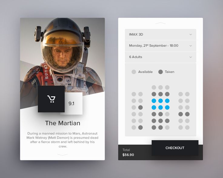 Day 085 - Cinema Application – Paul Flavius Nechita /via dribbble localbizconnect.com | #mobilewebsite