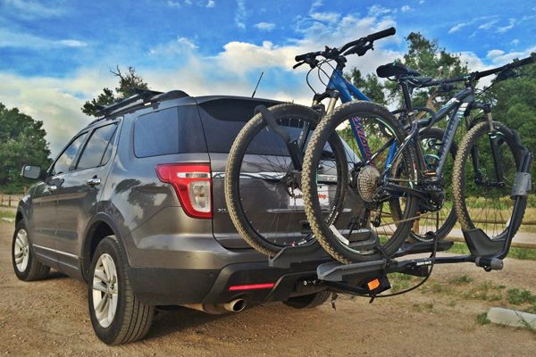 This #bike #rack is able to #comfortably handle two #bicycles at once and has several unique features. The adjustment hubs are easy to use and help to simplify