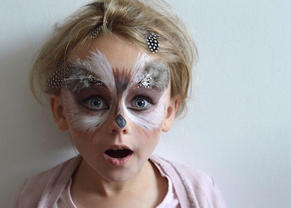 Just So Festival Tribal Tournament Preparation Owl Face Paint 06 lapinblu