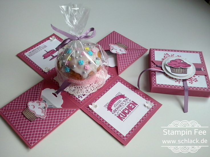 stampin Explosion box birthday Muffin cupcake surprise sprinkles of life Explosionsbox Geburtstag worte die gut tun