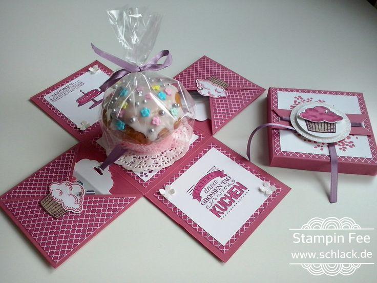 stampin Explosion box birthday Muffin cupcake surprise sprinkles of life Explosionsbox Geburtstag worte die gut tun