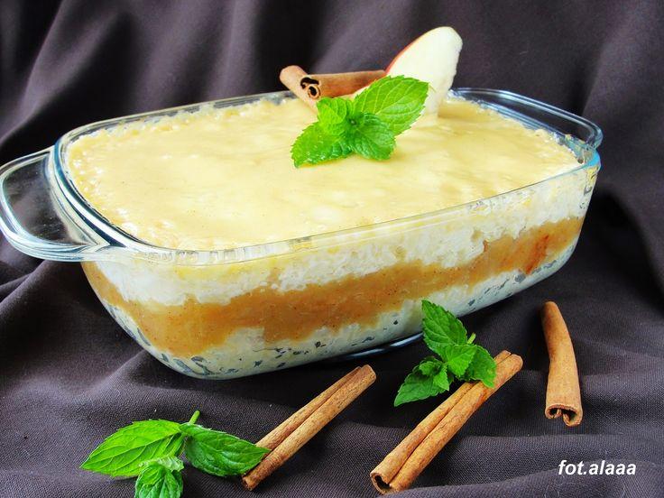Ala piecze i gotuje: Ryż z jabłkami i polewą ze śmietany