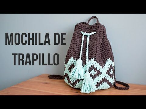 Mochila boho de trapillo - MissDIY