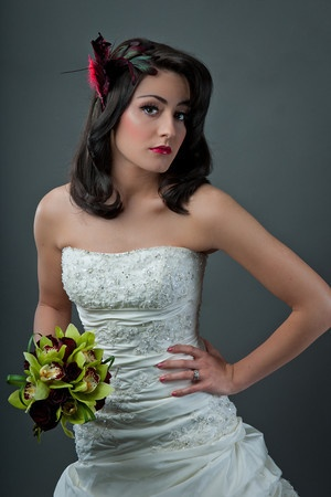 Retro Yet Modern Wedding Bridal Hairstyle And Makeup Look High Definition Airbrush