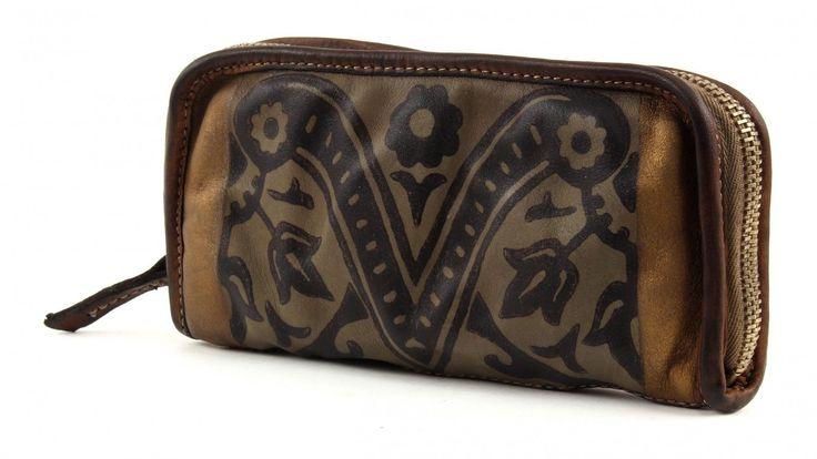 CATERINA LUCCHI Amanuense Barocco Zip Wallet Geldbörse Portemonnaie Braun Mud | eBay