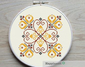 geometric cross stitch pattern moroccan ornament by Happinesst