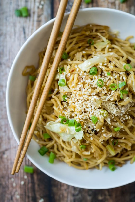 15 Minute Easy Yakisoba Noodle Stir Fry by Wanderlust Kitchen
