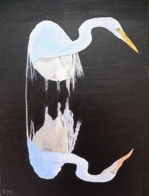 White Heron  Eric Kempson by ellenisworkshop on Etsy