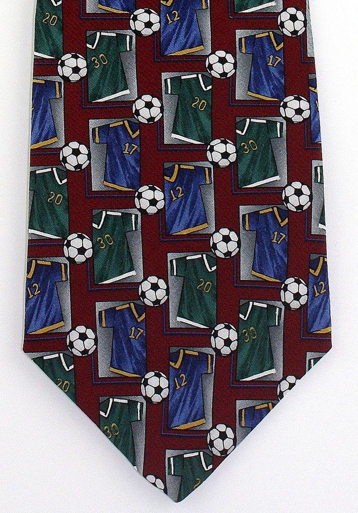 New Soccer Jersey Game Mens Necktie Ball Player World Cup Football Silk Neck Tie #Wembley #NeckTie