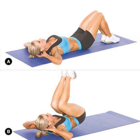 Best 25 reverse crunches ideas on pinterest exercises for Floor ab workouts