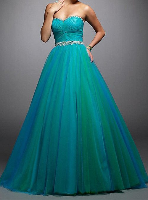 New Design A Line Sexy Long Prom Dresses 2017 Sweetheart Tulle Beading Vestidos de Festa Hot Sale Cheap Price Prom Dress OP33081