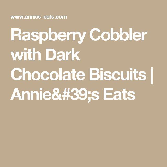 Raspberry Cobbler with Dark Chocolate Biscuits | Annie's Eats