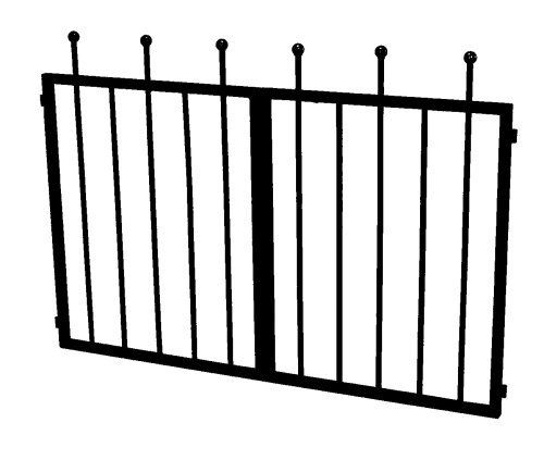 Gardman R366 Westminster Gate by Gardman. Save 12 Off!. $49.95. Weather resistant. Create a whimsical, gated garden entrance. Design mirrors arch's side panels with alternating vertical bars and gold capped spires. Constructed of steel tubing with a black finish. Westminster Gate attaches to Westminster  Arch. Add the elegant Westminster Gate to your Westminster Arch and create a whimsical, gated entrance to your garden. The Westminster Gate will attach to the arch and make a deli...