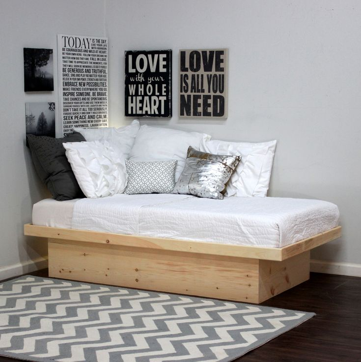 Gothic Cabinet Craft - Twin Platform Bed In Pine, $129.00 (http:// - Ideas About Twin Platform Bed On Pinterest Small Shared