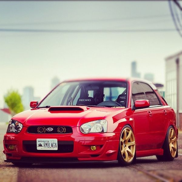 Subaru WRX Wagon stance hellaflush seattle northwest http://www.nwmotiv.com/cars/red-rumble-rush/ @arrrminhammmerrr @nwmotiv