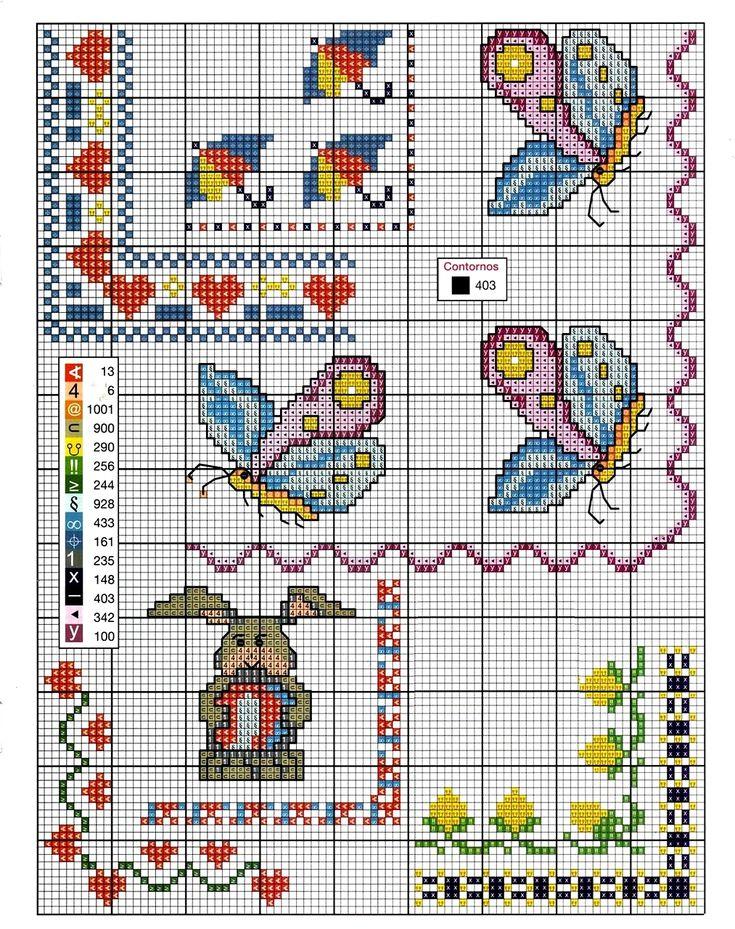 Schema+tenere+cornicette+per+lenzuolini+o+copertine+a+punto+croce.jpg (1013×1280)