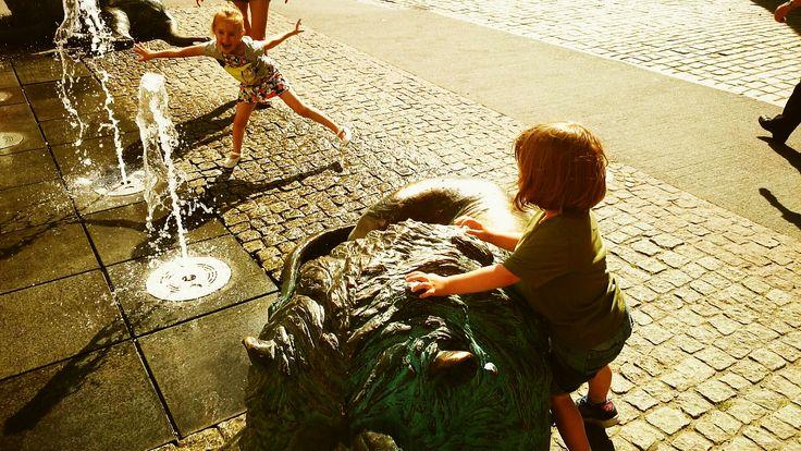 Złote Lwy, fontanna