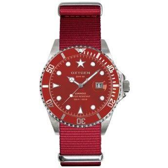 Relojes Rojos Oxygen http://www.tutunca.es/reloj-rojo-oxygen-diver-shanghai-40