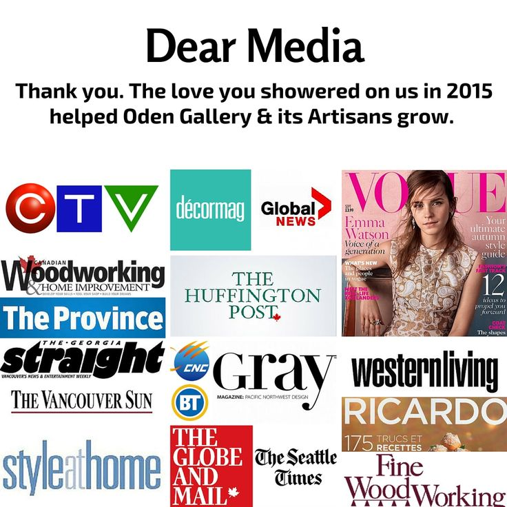 Some of our 2015 Media love. Thank you! #inthepaper #onTV #gossymagazine #love