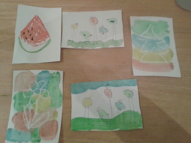 Selection of watercolour kids