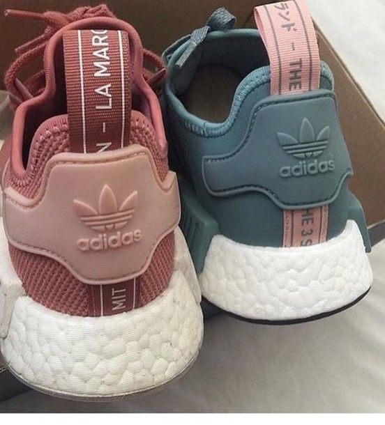 Shoes: adidas pastel sneakers blue sneakers grey sneakers petrol dusty pink pink sneakers adidas. @GolddennGoddess♛