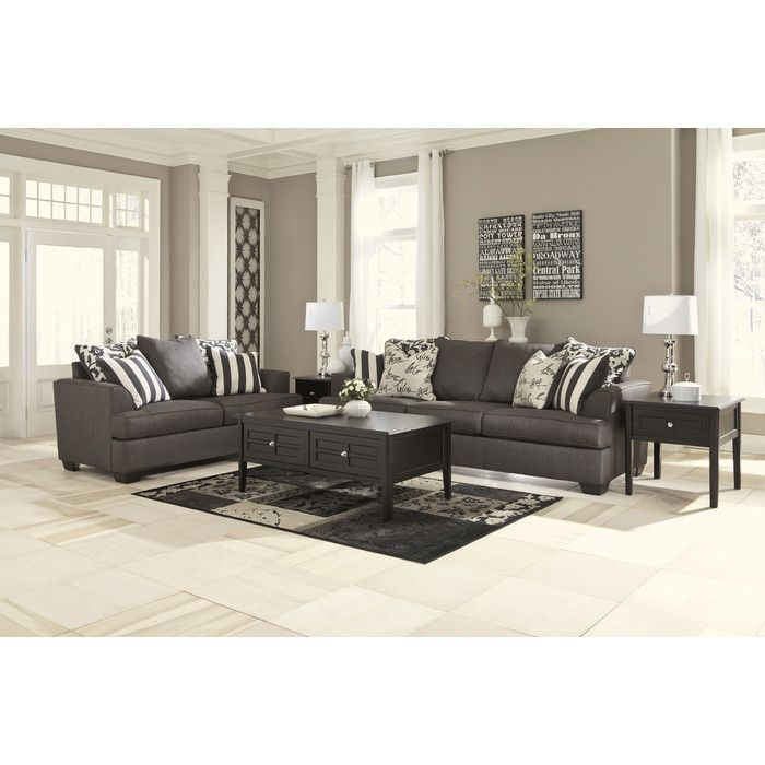 Signature Design by Ashley Hobson Living Room Collection & Reviews | Wayfair