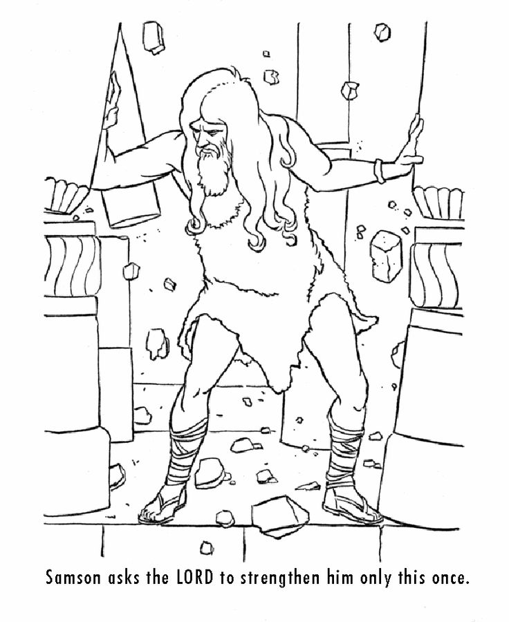 samson coloring sheets coloring pages for christian families - Samson Delilah Coloring Pages