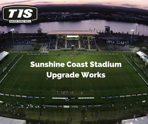 Recent upgrade works at the Sunshine Coast Stadium were completed on time for the pre-season match between the Melbourne Storm and the Vodafone Warriors. TIS were involved in the upgrade to irrigation works.