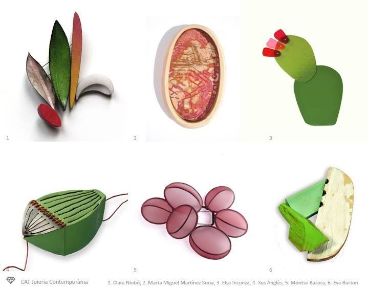 CAT Joieria Contemporània - www.catalegartistes.info   Clara Niubo Casas, Marta Miguel Martínez-Soria, Elsa Inzunza Zzdeinzunza Taller Creatiu, Xus Anglès,  Montse Basora i Eva Burton.
