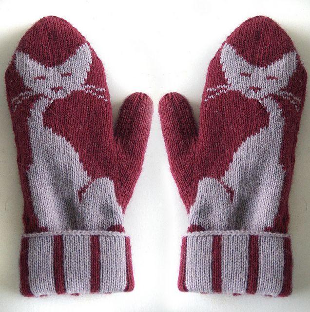 Kitten Mittens    http://www.ravelry.com/patterns/library/kittens-mittens#