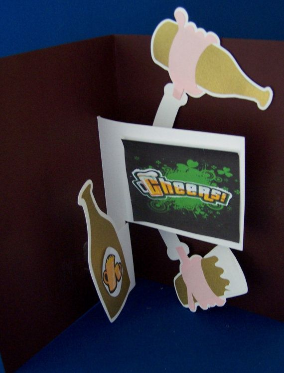 Beer  Pop up Card Cutting File for by EliteHandmadeCards on Etsy, £0.60