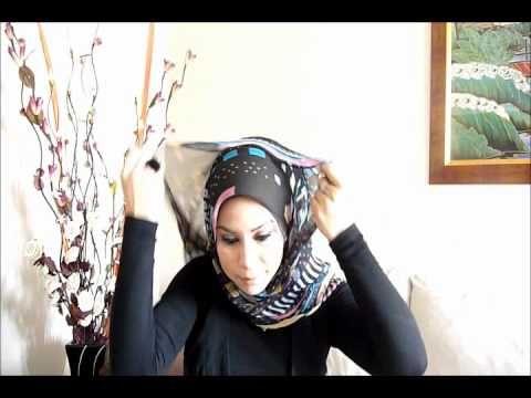 Hijab tutorial: 4 different styles.