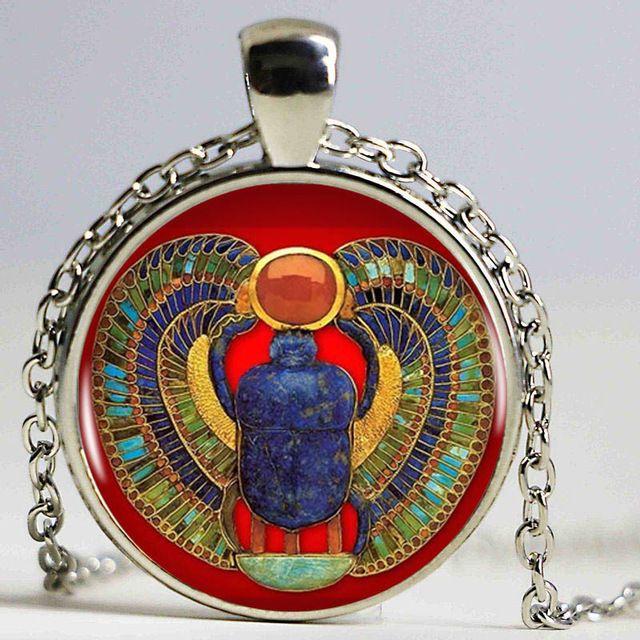 2016 Moda Scarab Egipski Naszyjnik, starożytny egipt biżuteria, egipt naszyjnik, egipski biżuteria Dla Kobiet, 4 kolory do wyboru