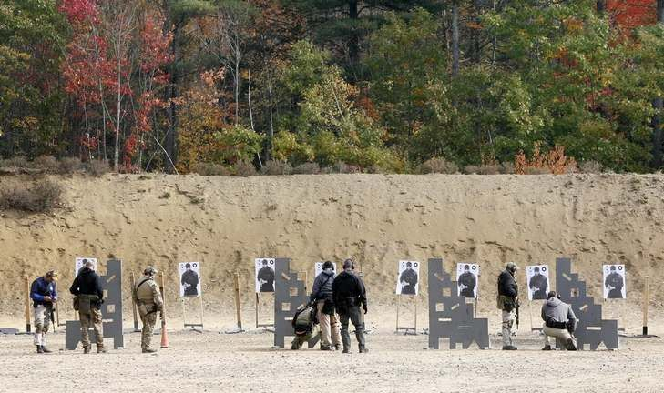 EPPING - A man suffered a gunshot wound to the leg Wednesday when he accidentally shot himself during firearms training at Sig Sauer Academy, police said.