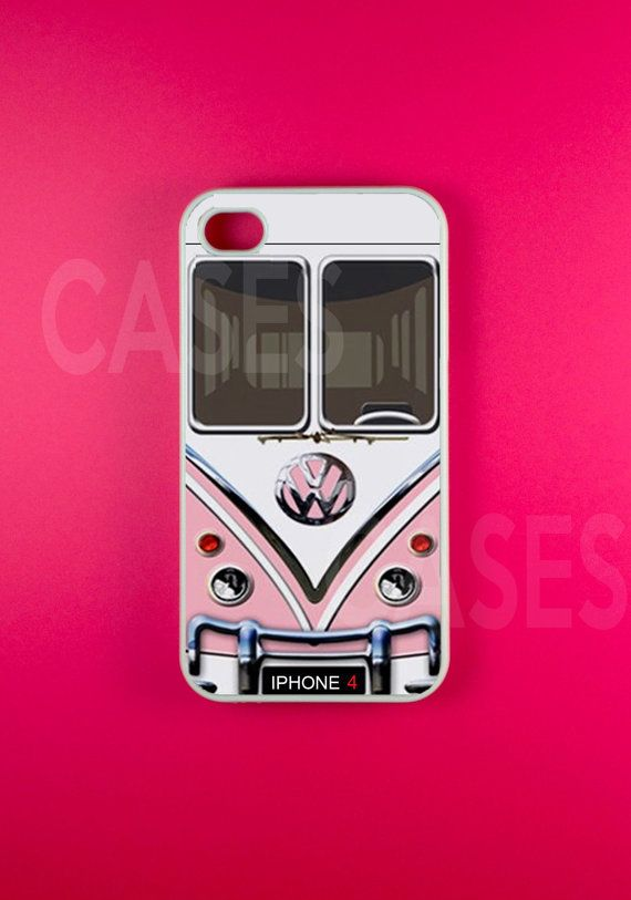 Iphone 4 Case  VW Minibus Pink Iphone CaseIphone 4s by DzinerCases, $15.99
