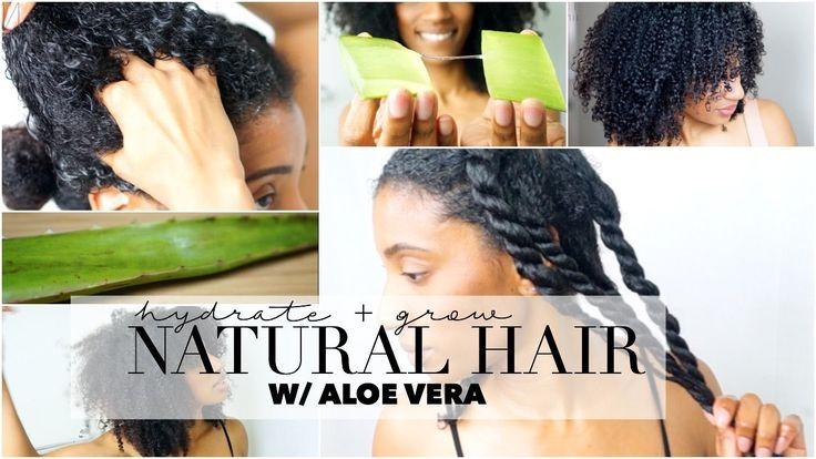 How to Grow & Hydrate Natural Hair - Aloe Vera Oil Treatment [Video] - https://blackhairinformation.com/video-gallery/grow-hydrate-natural-hair-aloe-vera-oil-treatment-video/