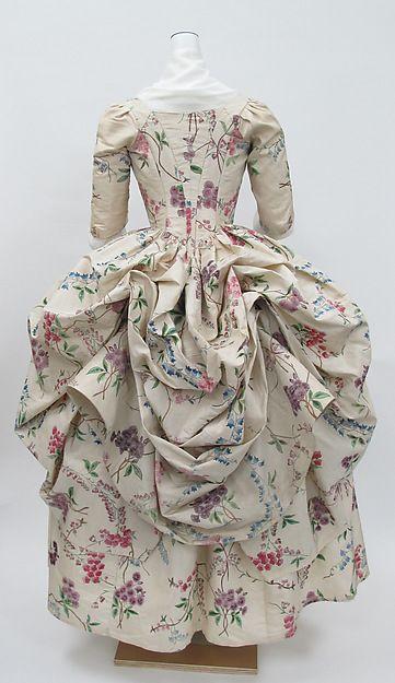 France, Silk Robe à la Polonaise, 1780