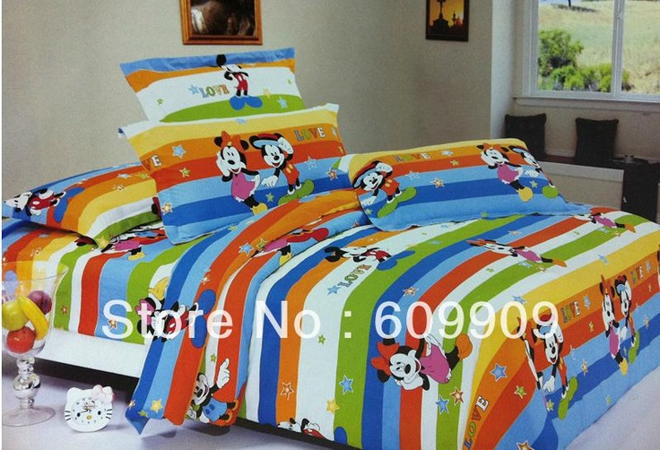 Queen Size Mickey Mouse Bedding Cotton Comforter Cover