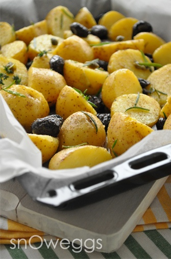 Patates+biberiye+kekik+zeytin+kapari